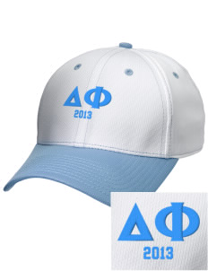 Delta Phi Embroidered New Era Snapback Performance Mesh Contrast Bill Cap