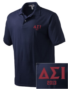 Delta Sigma Iota Embroidered Men's Jersey Polo