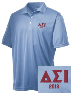 Delta Sigma Iota Embroidered Men's Double Mesh Polo