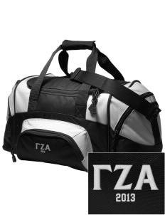 Gamma Zeta Alpha Embroidered Small Colorblock Duffel