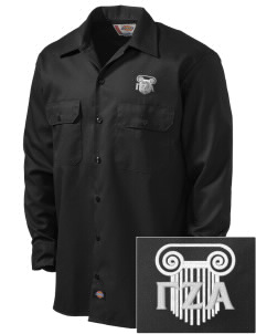 Gamma Zeta Alpha Embroidered Dickies Men's Long-Sleeve Workshirt