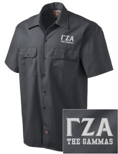 Gamma Zeta Alpha Embroidered Dickies Men's Short-Sleeve Workshirt