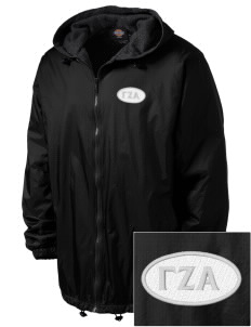 Gamma Zeta Alpha Embroidered Dickies Men's Fleece-Lined Hooded Jacket