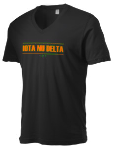 Iota Nu Delta Alternative Men's 3.7 oz Basic V-Neck T-Shirt