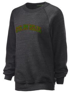 Iota Nu Delta Unisex Alternative Eco-Fleece Raglan Sweatshirt with Distressed Applique