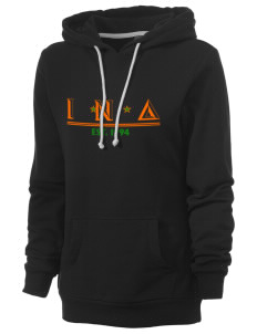 Iota Nu Delta Women's Core Fleece Hooded Sweatshirt