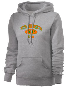 Iota Nu Delta Russell Women's Pro Cotton Fleece Hooded Sweatshirt