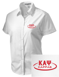 Kappa Alpha Psi Embroidered Women's Short Sleeve Easy Care, Soil Resistant Shirt