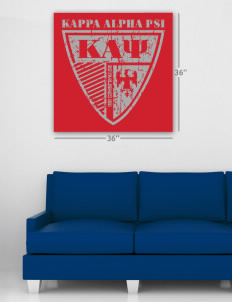 "Kappa Alpha Psi Wall Poster Decal 36"" x 36"""