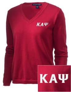 Kappa Alpha Psi Embroidered Women's V-Neck Sweater