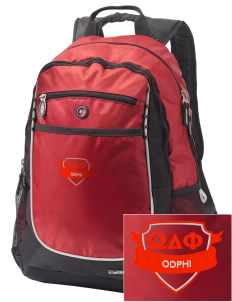 Omega Delta Phi Embroidered OGIO Carbon Backpack
