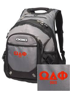 Omega Delta Phi Embroidered OGIO Fugitive Backpack