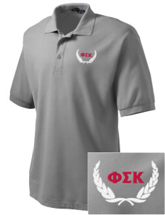 Phi Sigma Kappa Embroidered Men's Silk Touch Polo