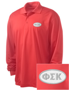 Phi Sigma Kappa Embroidered Men's Long Sleeve Micropique Sport-Wick Sport Shirt