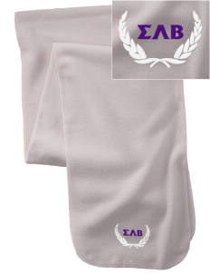 Sigma Lambda Beta  Embroidered Extra Long Fleece Scarf