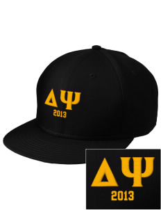Delta Psi  Embroidered New Era Flat Bill Snapback Cap