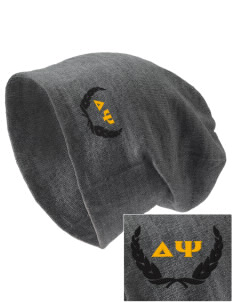 Delta Psi Embroidered Slouch Beanie