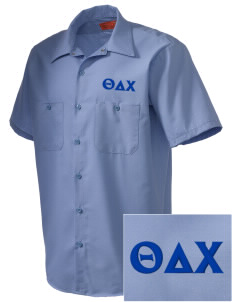 Theta Delta Chi Embroidered Men's Cornerstone Industrial Short Sleeve Work Shirt