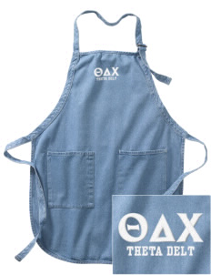 Theta Delta Chi Embroidered Full-Length Apron with Pockets