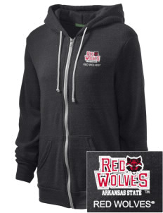 Arkansas State University Red Wolves Embroidered Alternative Unisex The Rocky Eco-Fleece Hooded Sweatshirt