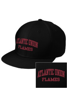 Atlantic Union College Flames  Embroidered New Era Flat Bill Snapback Cap
