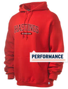 Hastings College Broncos Russell Men's Dri-Power Hooded Sweatshirt