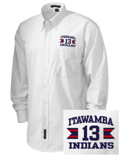 Itawamba Community College Indians  Embroidered Men's Easy Care, Soil Resistant Shirt