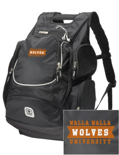 Walla Walla University Wolves  Embroidered OGIO Bounty Hunter Backpack