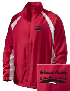 Warren County Community College Golden Eagles  Embroidered Men's Full Zip Warm Up Jacket