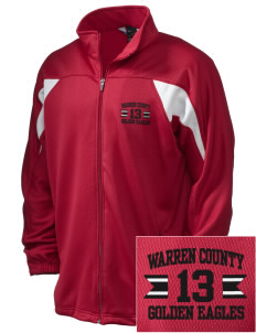 Warren County Community College Golden Eagles Embroidered Holloway Men's Full-Zip Track Jacket