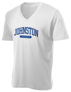 Johnston Community College College Alternative Men's 3.7 oz Basic V-Neck T-Shirt
