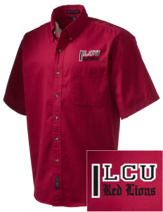 Lincoln Christian College Preachers Embroidered Men's Short Sleeve Twill Shirt