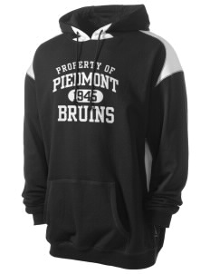 Piedmont International University BRUINS Men's Pullover Hooded Sweatshirt with Contrast Color