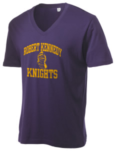 Robert Kennedy Elementary School Knights Alternative Men's 3.7 oz Basic V-Neck T-Shirt