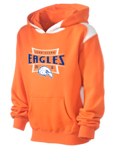 John Glenn High School Eagles Kid's Pullover Hooded Sweatshirt with Contrast Color