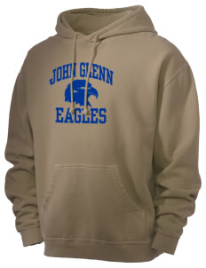 John Glenn High School Eagles Men's 80/20 Pigment Dyed Hooded Sweatshirt