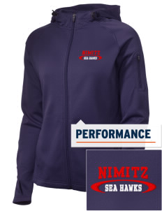 Nimitz Middle School Sea Hawks Embroidered Women's Tech Fleece Full-Zip Hooded Jacket