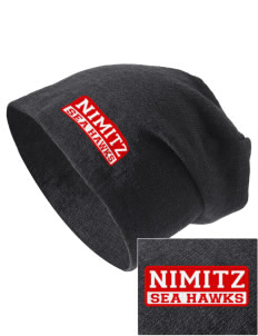 Nimitz Middle School Sea Hawks Embroidered Slouch Beanie