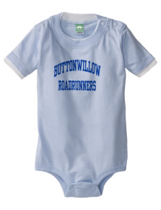 Buttonwillow Elementary School Roadrunners Baby One-Piece with Shoulder Snaps