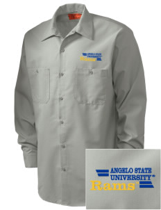 Angelo State University Rams Embroidered Men's Industrial Work Shirt - Regular
