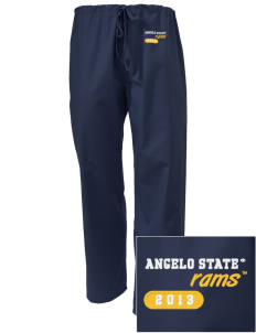 Angelo State University Rams Embroidered Scrub Pants