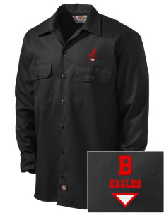 Benedictine University Eagles Embroidered Dickies Men's Long-Sleeve Workshirt