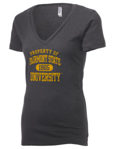 Fairmont State University Falcons Women's 4.2 oz Jersey Deep V-Neck T-Shirt
