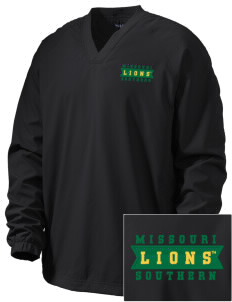 Missouri Southern State University Lions Embroidered Men's V-Neck Raglan Wind Shirt