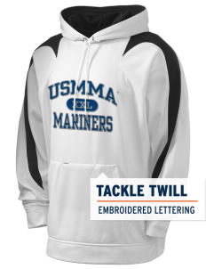 United States Merchant Marine Academy Mariners Holloway Men's Sports Fleece Hooded Sweatshirt with Tackle Twill
