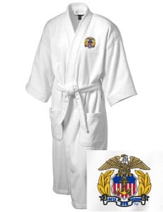 United States Merchant Marine Academy Mariners Embroidered Terry Velour Robe