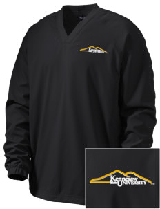 Kennesaw State University Owls Embroidered Men's V-Neck Raglan Wind Shirt