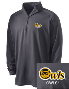 Kennesaw State University Owls Embroidered Men's Stretched Half Zip Pullover