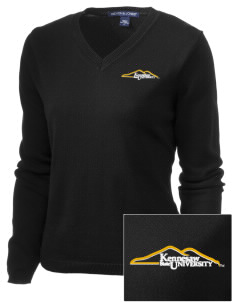Kennesaw State University Owls Embroidered Women's V-Neck Sweater