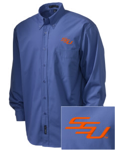 Savannah State University Tigers  Embroidered Men's Easy Care, Soil Resistant Shirt